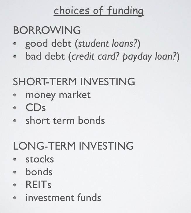 5 funding choices