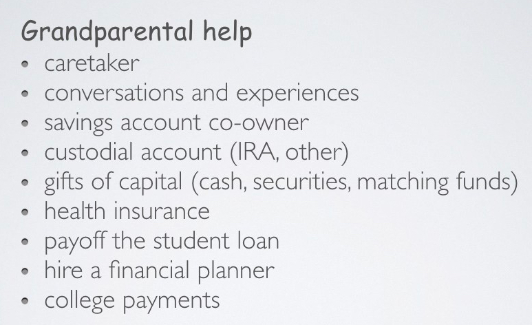 9 grandparental help